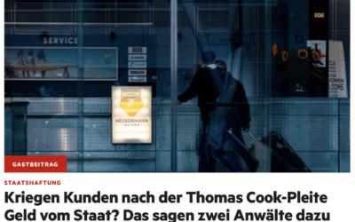 Nach der Thomas Cook-Pleite Geld vom Staat?