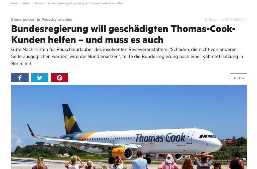 Thomas Cook: Meldungen überschlagen sich – wir erneut auf Stern.de