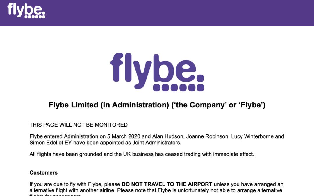 Der nächste bitte: Flybe meldet Insolvenz an