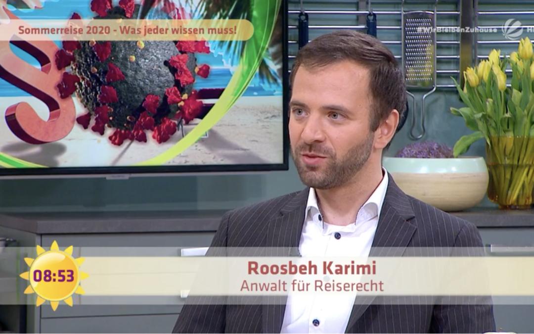 Rechtsanwalt Karimi erneut im Frühstücksfernsehen